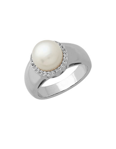 LORD & TAYLORSterling Silver Pearl & White Topaz Ring