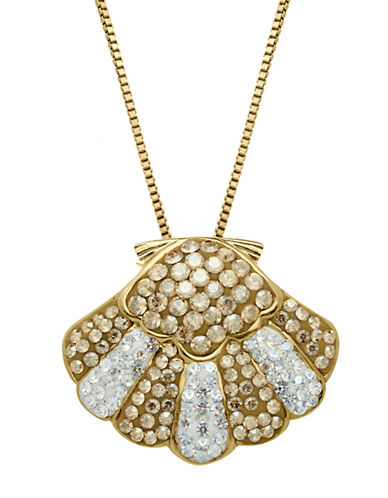 LORD & TAYLORSterling Silver & Crystal Shell Pendant