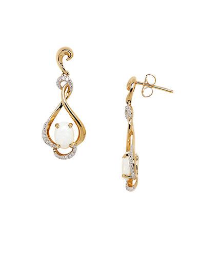 LORD & TAYLOROpal Diamond and 14K Yellow Gold Drop Earrings