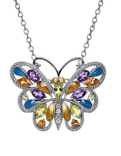 LORD & TAYLORSemi-Precious Multi-Stone Sterling Silver Butterfly Pendant