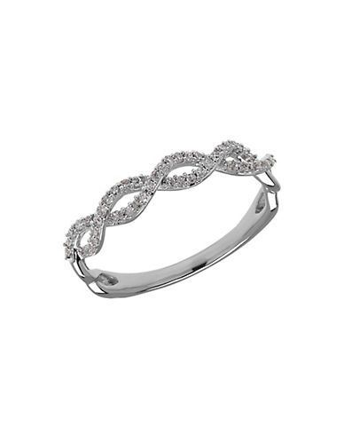 LORD & TAYLOR Diamond and 14K White Gold Waves Ring