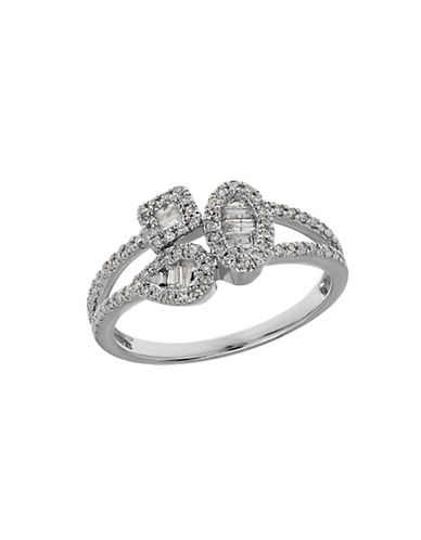 LORD & TAYLOR Diamond and 14K White Gold Multi-Shape Ring