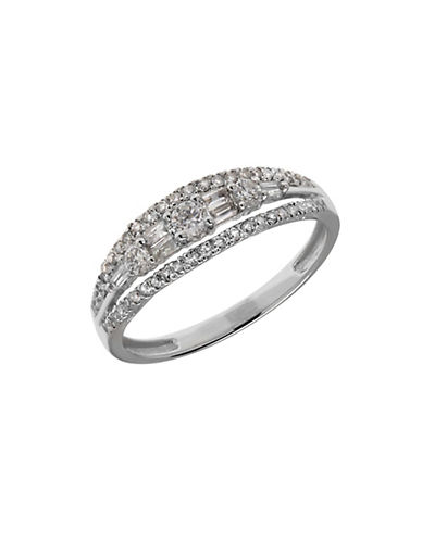 LORD & TAYLOR Diamond and 14K White Gold Variegated Ring, 0.5TCW