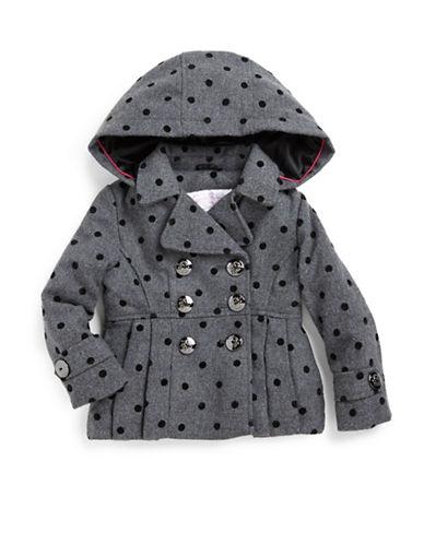 JESSICA SIMPSONGirls 2-6x Polka Dot Hooded Coat