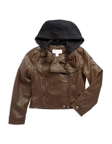 JESSICA SIMPSONGirls 7-16 Hooded Moto Jacket