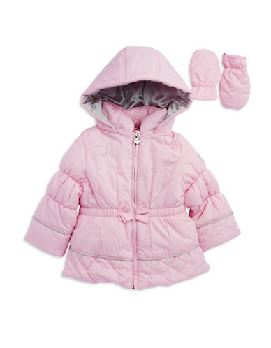 LONDON FOGBaby Girls Bow Accented Puffer Coat