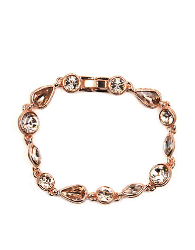 GIVENCHY Rose Gold-Plated Crystal Bracelet