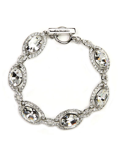 GIVENCHY Silver-Tone Crystal Toggle Bracelet