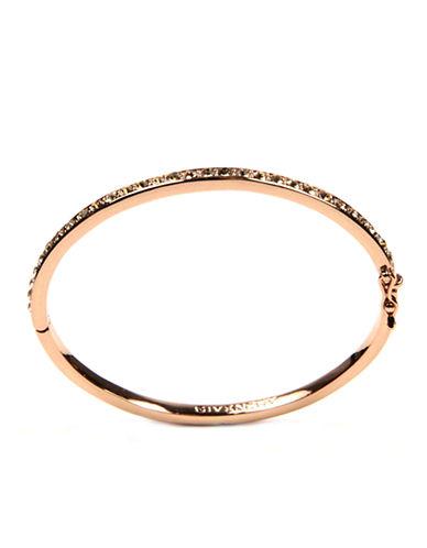 GIVENCHYRose Goldtone Crystal Bangle Bracelet