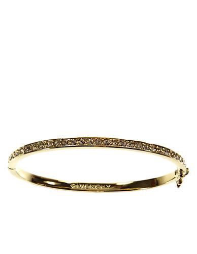 GIVENCHY10Kt. Gold Plated Brass and Crystal Bangle Bracelet