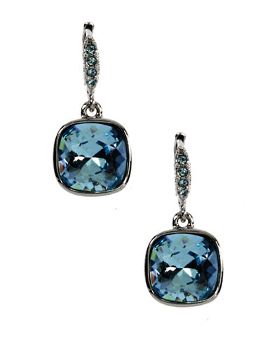 GIVENCHY Aqua Crystal Drop Earrings