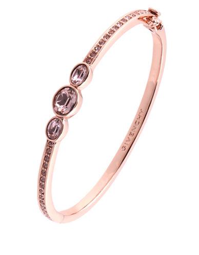 Rose Gold and Swarovski Crystal Vintage Rose Bangle Bracelet