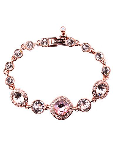 Rose Gold and Vintage Rose Swarovski Crystal Flex Bracelet