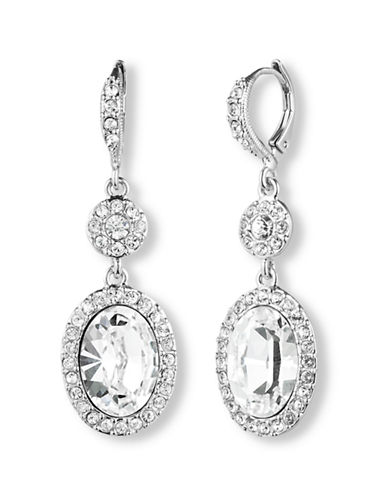 GIVENCHYSilver Tone and Tiered Oval Drop Earrings