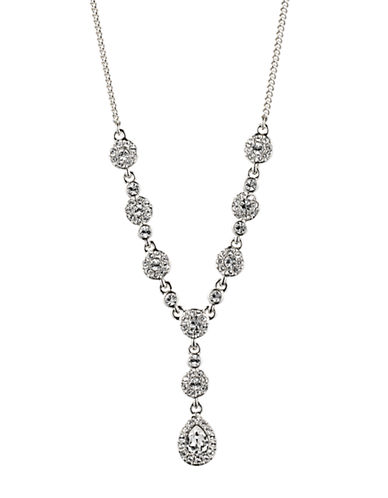 GIVENCHYCrystallized Y Necklace with Dangling Pear Crystal