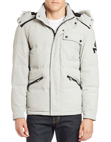 Vry Warm Faux Fur-Trimmed Hooded Jacket