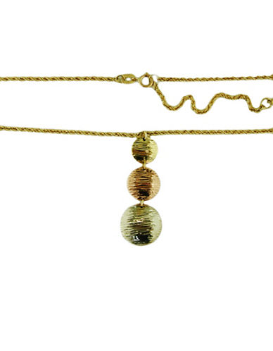 LORD & TAYLOR14 Kt. Tri Tone Gold Circle Pendant