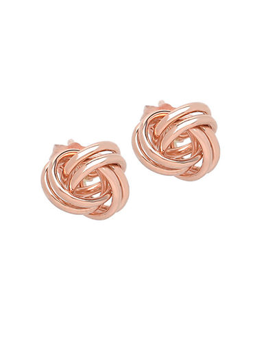 LORD & TAYLOR14 Kt. Rose Gold Knot Earrings