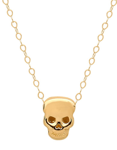 14 Kt. Yellow Gold Skull Charm Necklace