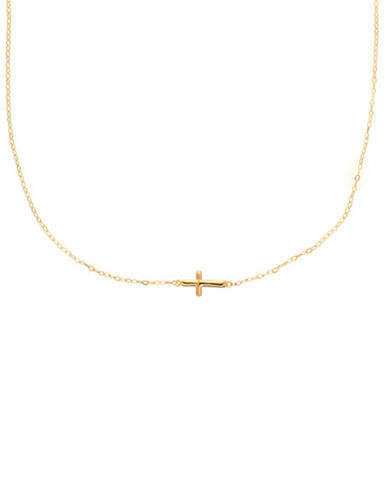 14 Kt. Yellow Gold Cross Charm Necklace