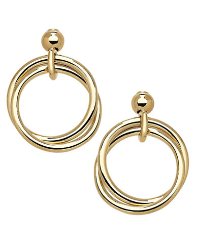 LORD & TAYLOR14Kt. Yellow Gold Circle Drop Earrings
