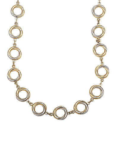 LORD & TAYLOR 14 Kt. Yellow Gold Circle Twist Necklace