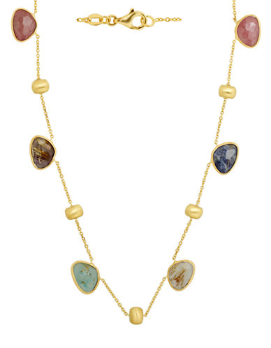 LORD & TAYLOR14Kt. Yellow Gold Multi Stone Necklace