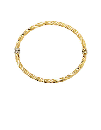 LORD & TAYLOR 14Kt. Yellow Gold Twist Bangle