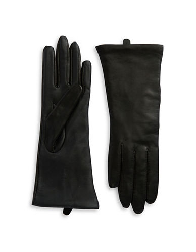 LORD & TAYLOR Leather Tech Gloves