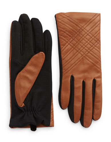 Lord & Taylor Luggage Leather Gloves