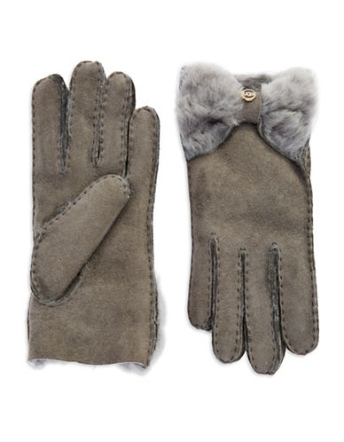 UGG AUSTRALIALadies Shearling Bow Gloves