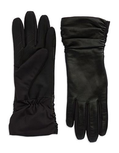 UR CONNECTEDRuched Leather Gloves