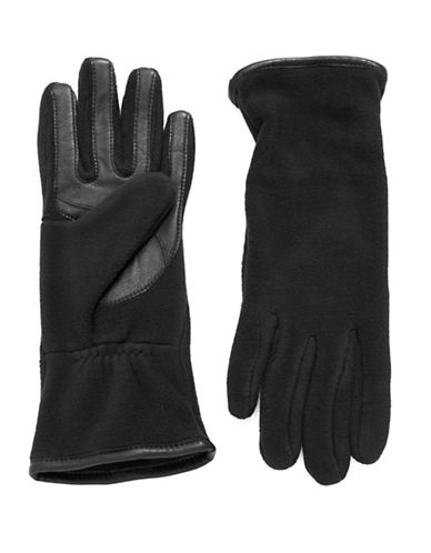 UR CONNECTED Fleece And Leather Touchscreen Gloves