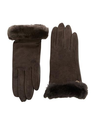 UGG AUSTRALIAShearling-Trimmed Leather Gloves