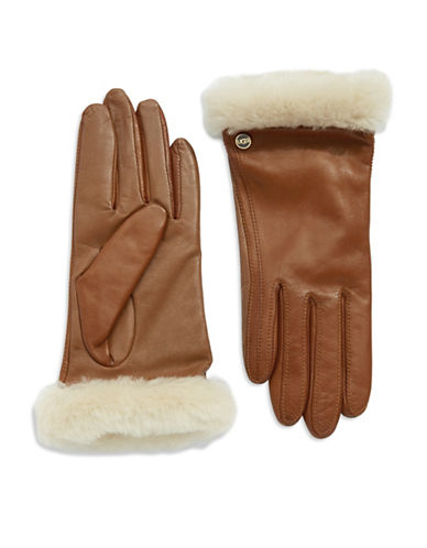 UGG AUSTRALIA Shearling And Leather Gloves