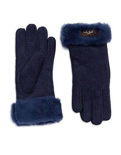 UGG AUSTRALIALadies Fur Turn Cuff Gloves