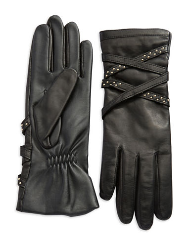 LORD & TAYLORCriss Cross Leather Gloves