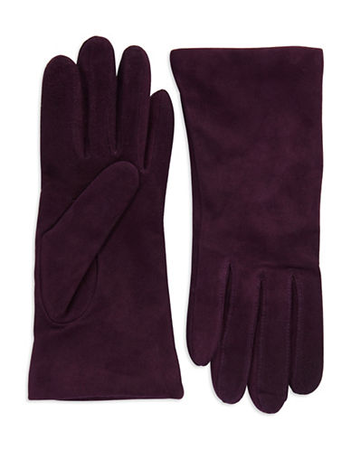 LORD & TAYLOR Suede Gloves