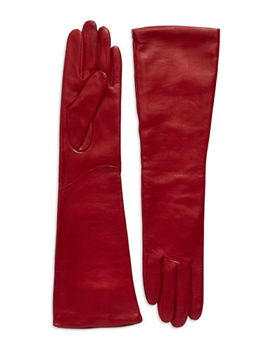 LORD & TAYLOR Leather Elbow Length Gloves