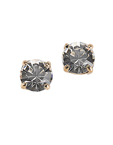 KATE SPADE NEW YORK12 Kt Gold Plated Clear Glass Stud Earrings