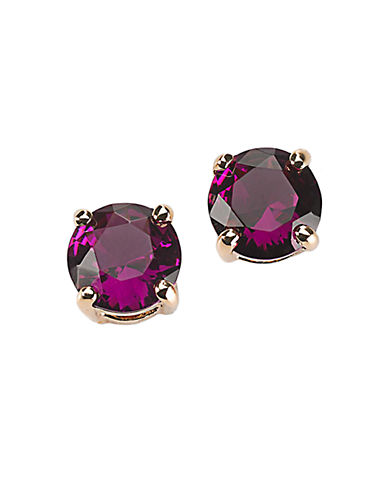 KATE SPADE NEW YORK12 Kt Gold Plated Pink Glass Stud Earrings