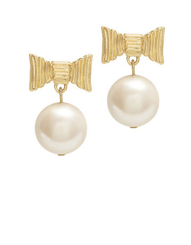 KATE SPADE NEW YORK All Wrapped Up Pearls Post-Back Drop Earrings