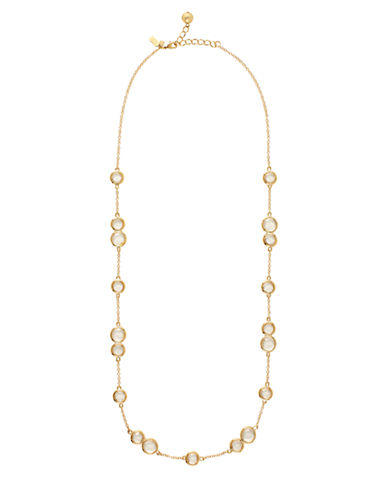 KATE SPADE NEW YORKGold-Tone Brass Necklace with Stone Accents