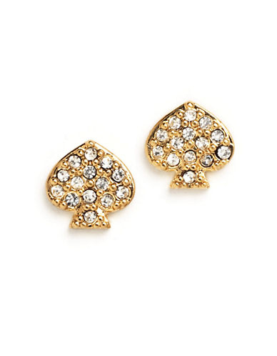 KATE SPADE NEW YORKSignature Spade Crystal Stud Earrings