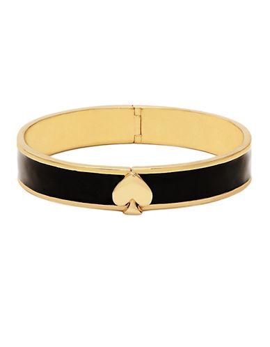 KATE SPADE NEW YORKGold Tone Brass and Black Spade Hinge Bracelet