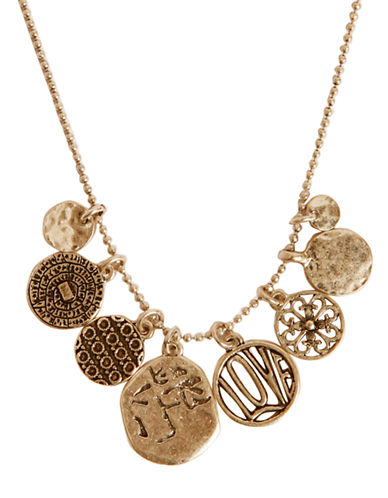 LUCKY BRANDGold-Tone Short Charm Necklace