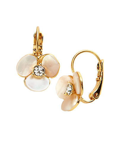 KATE SPADE NEW YORK Disco Pansy Drop Earrings