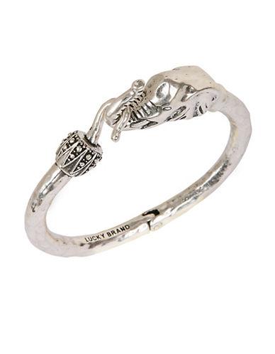 LUCKY BRANDSilver Tone Bracelet with Elephant Embellishment