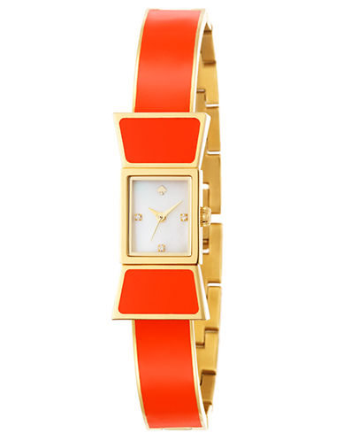 KATE SPADE NEW YORKLadies Carlyle Gold Tone and Tangerine Bracelet Watch