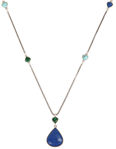 LUCKY BRAND Pendant and Gemstone Necklace
